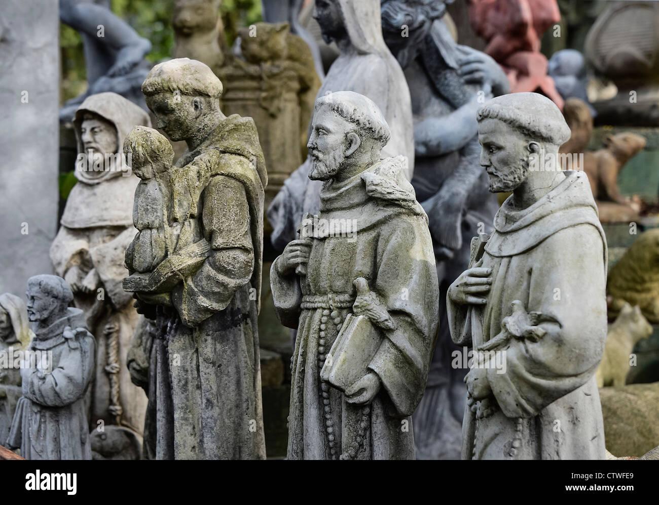 St Francis garden statuary. - Stock Image