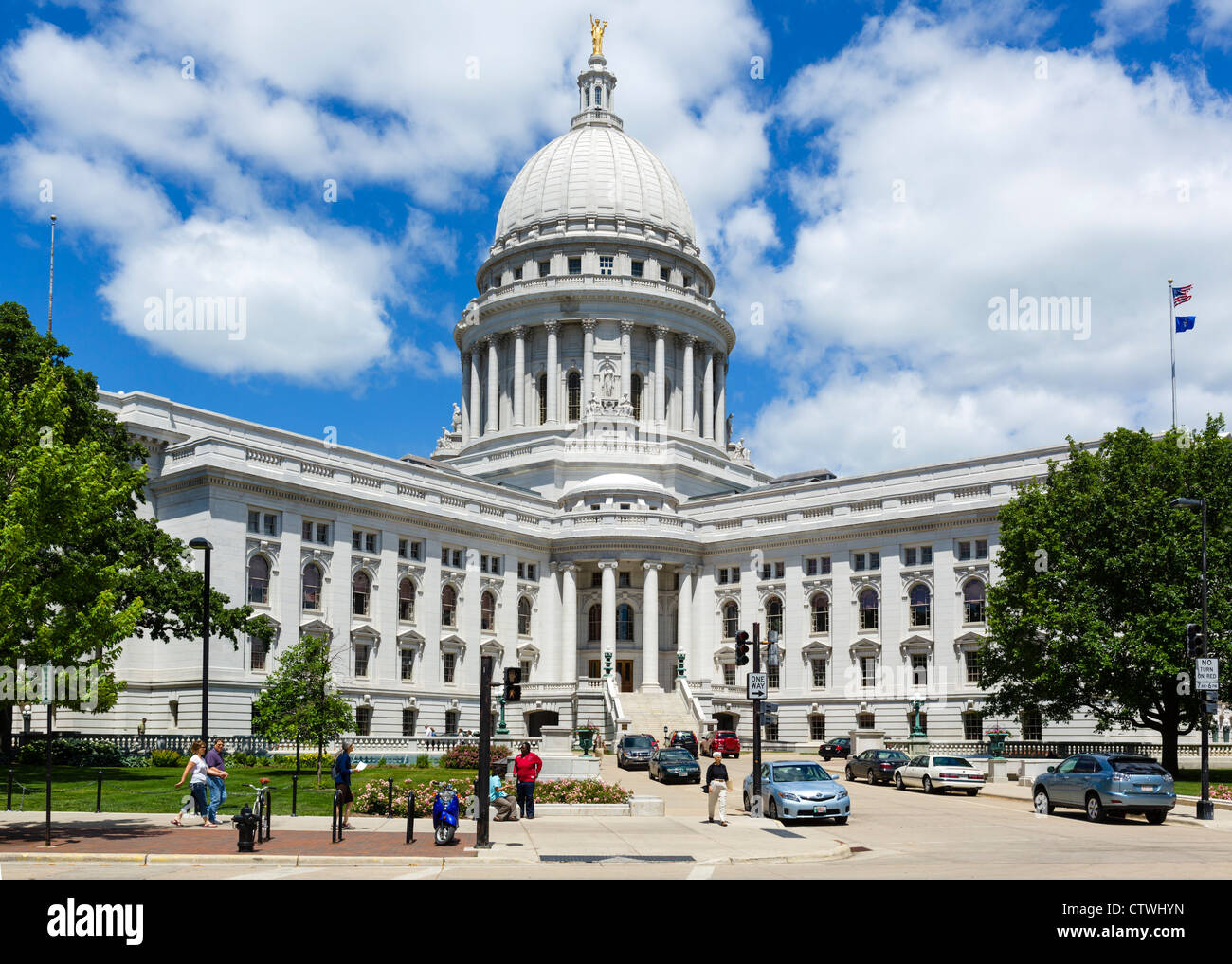 Wisconsin State Capitol, Madison, Wisconsin, USA - Stock Image
