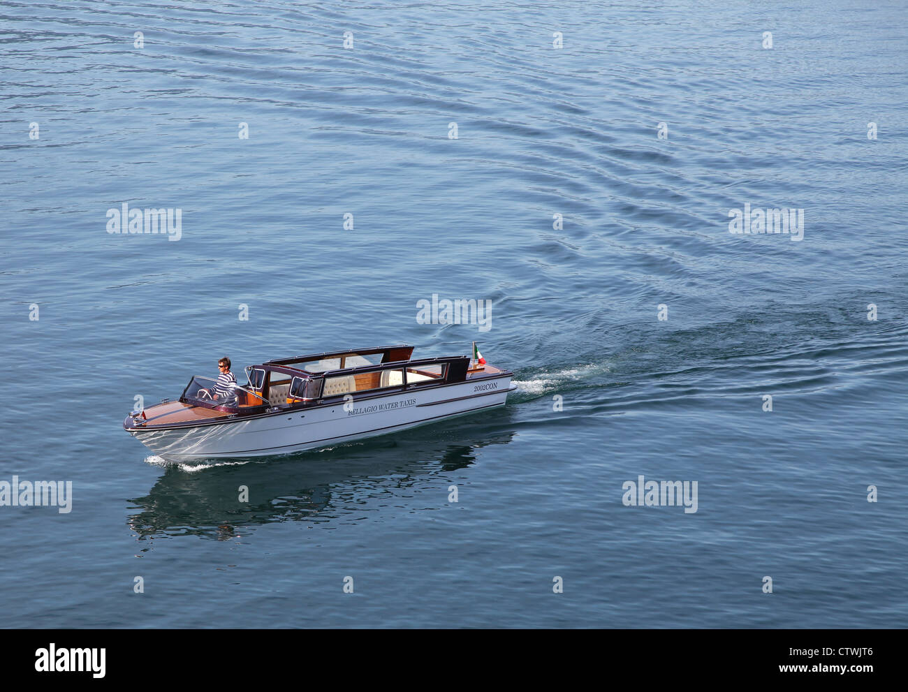 a water taxi bellagio lake como italian lakes italy stock photo