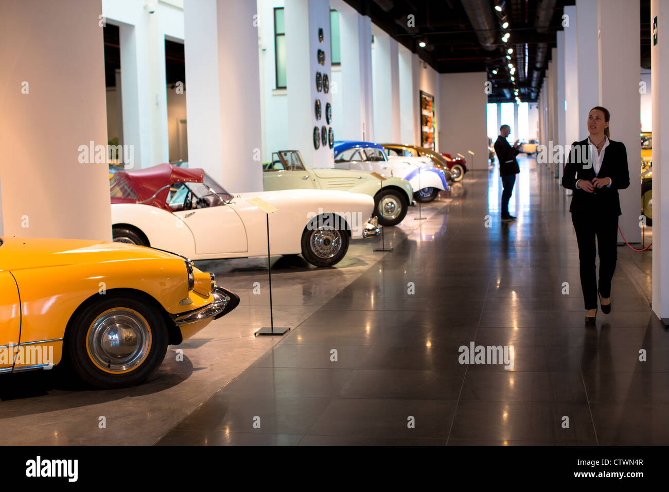 Automobile museum Malaga Spain - Stock Image