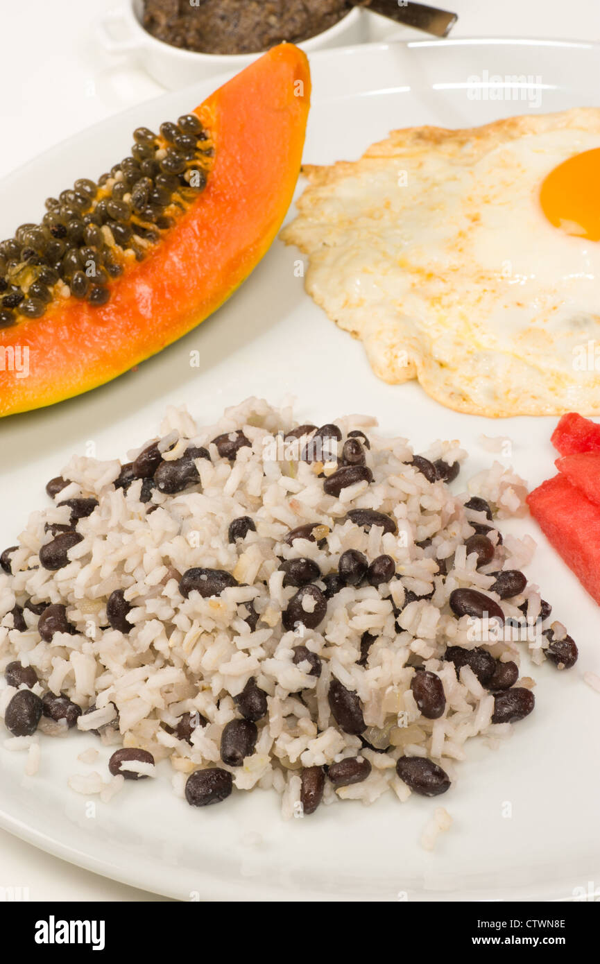 Black Beans and Rice with Papaya and Red Onions forecast