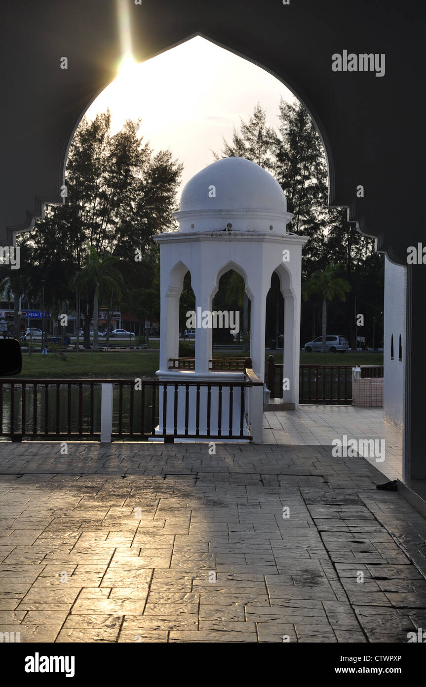 Stops resting place to unwind. Special architecture based on Islamic architecture. Built close to the mosque. - Stock Image