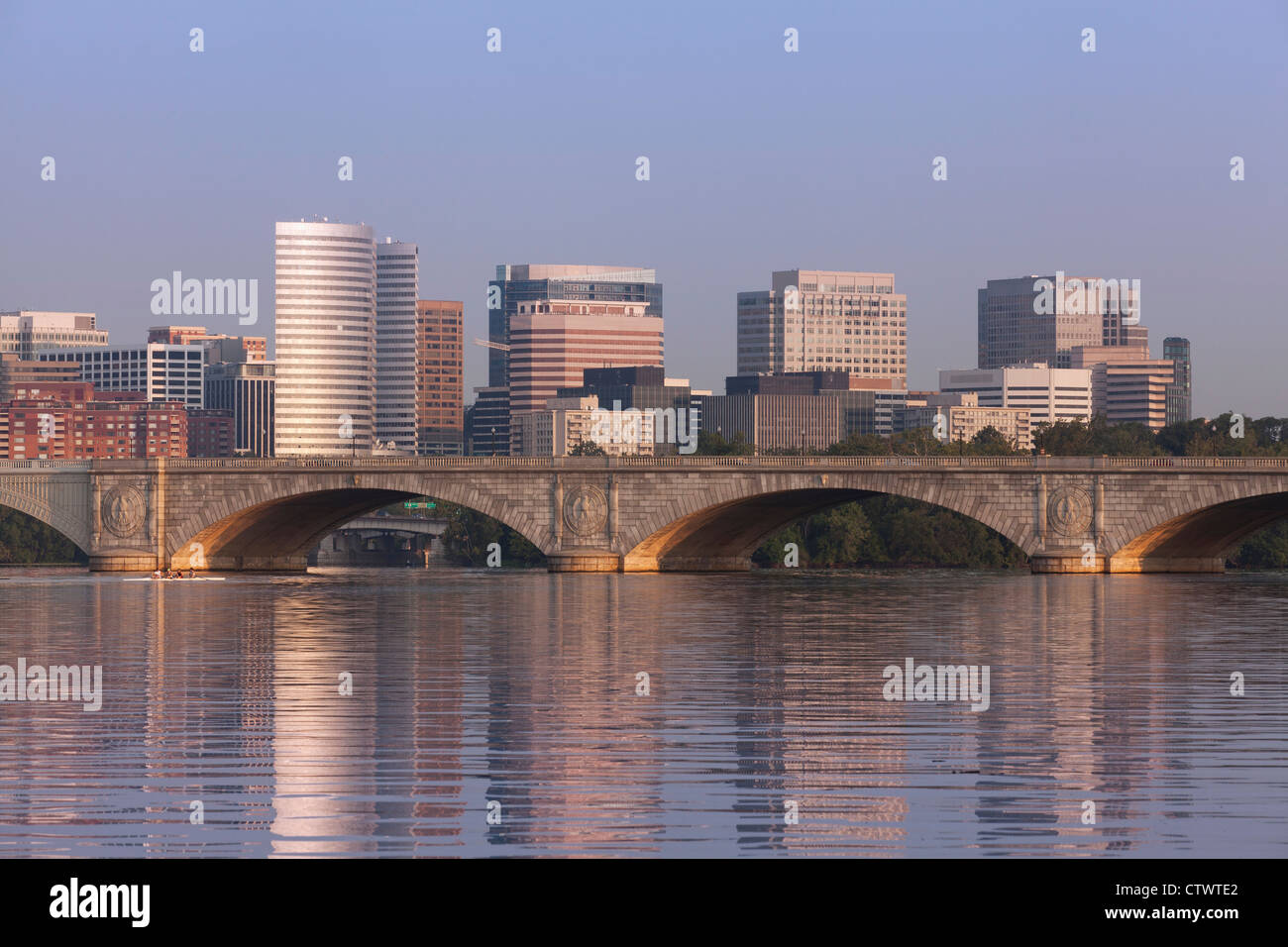 City of Roslyn, Virginia, USA skyline - Stock Image