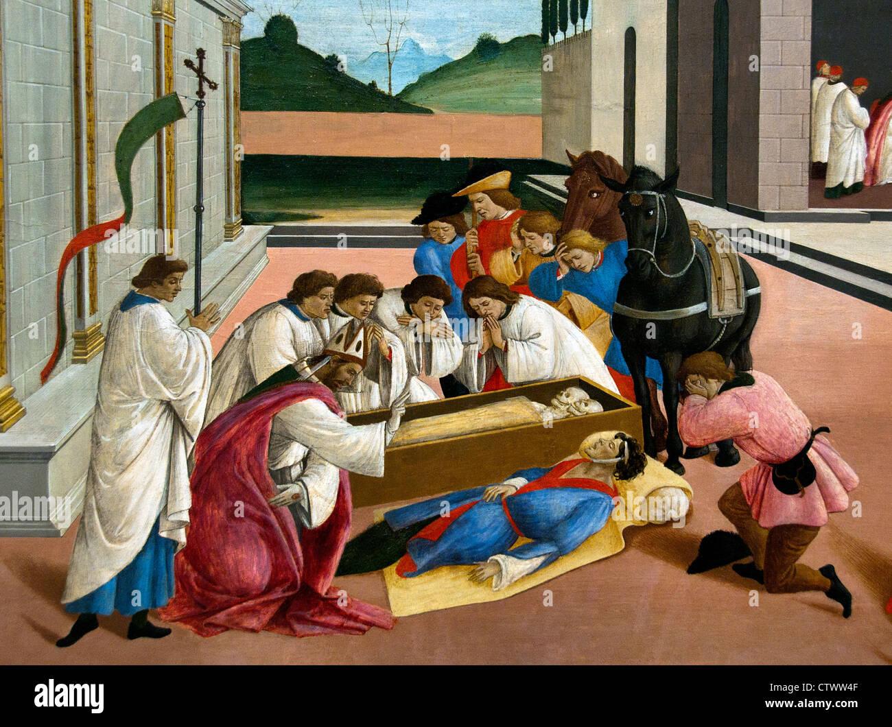 Three Miracles of Saint Zenobius by Botticelli (Alessandro di Mariano Filipepi)  1444–1510 Italy Italian - Stock Image