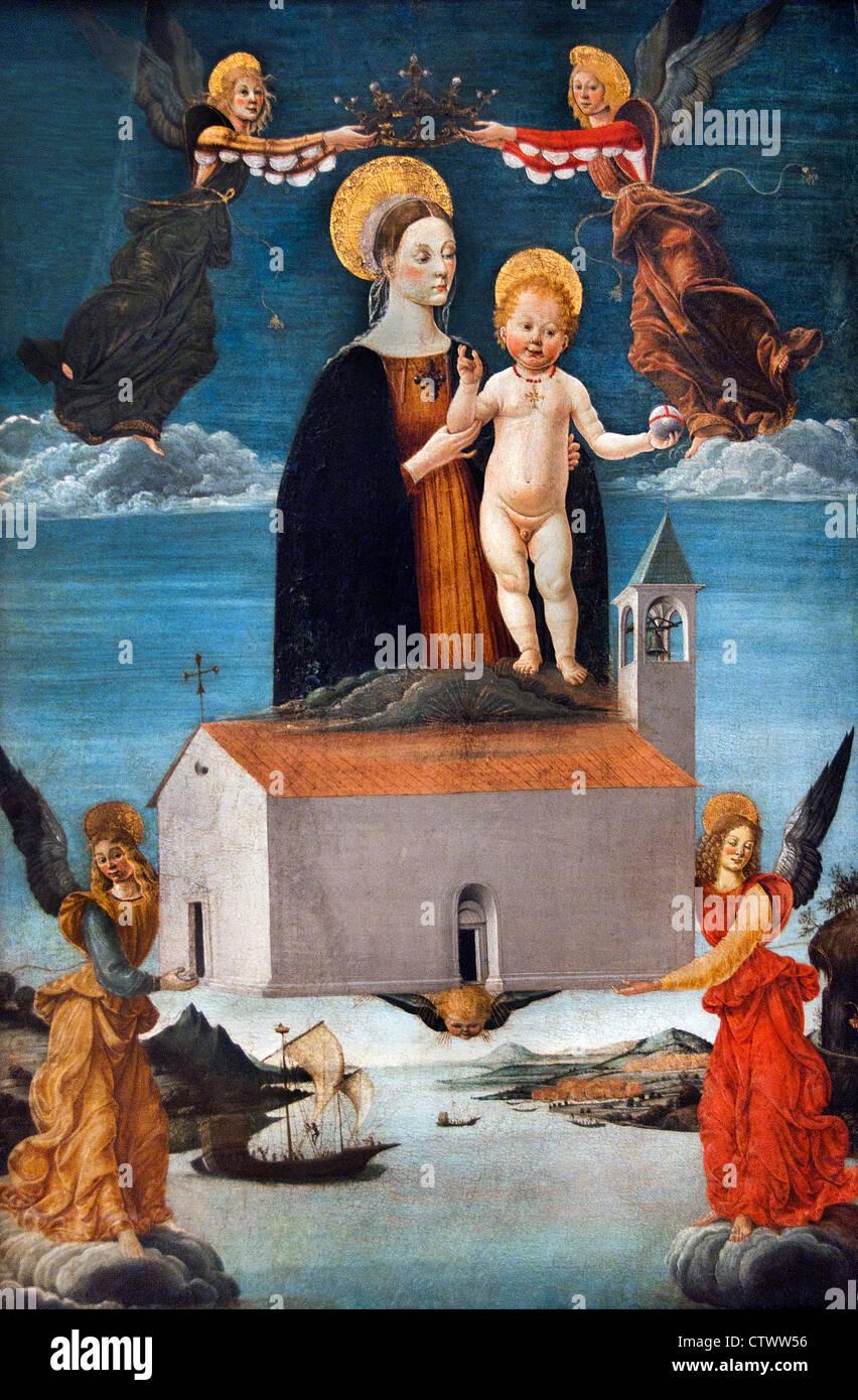 The Translation of the Holy House of Loreto 1520 Saturnino Gatti 1463–1518 Italy Italian - Stock Image