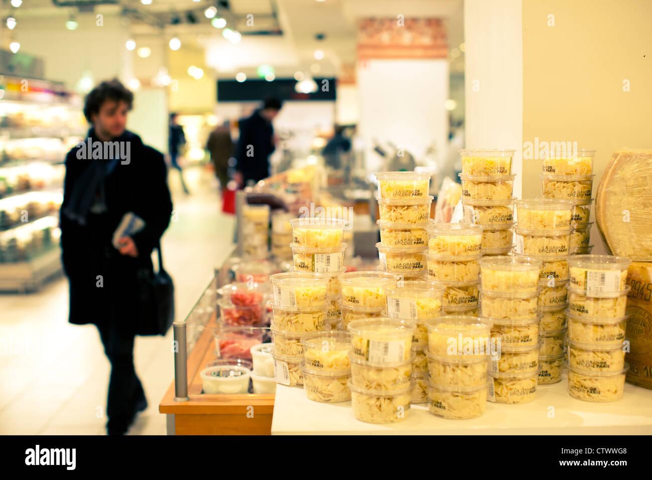 Le Bon Marche food market Paris France - Stock Image