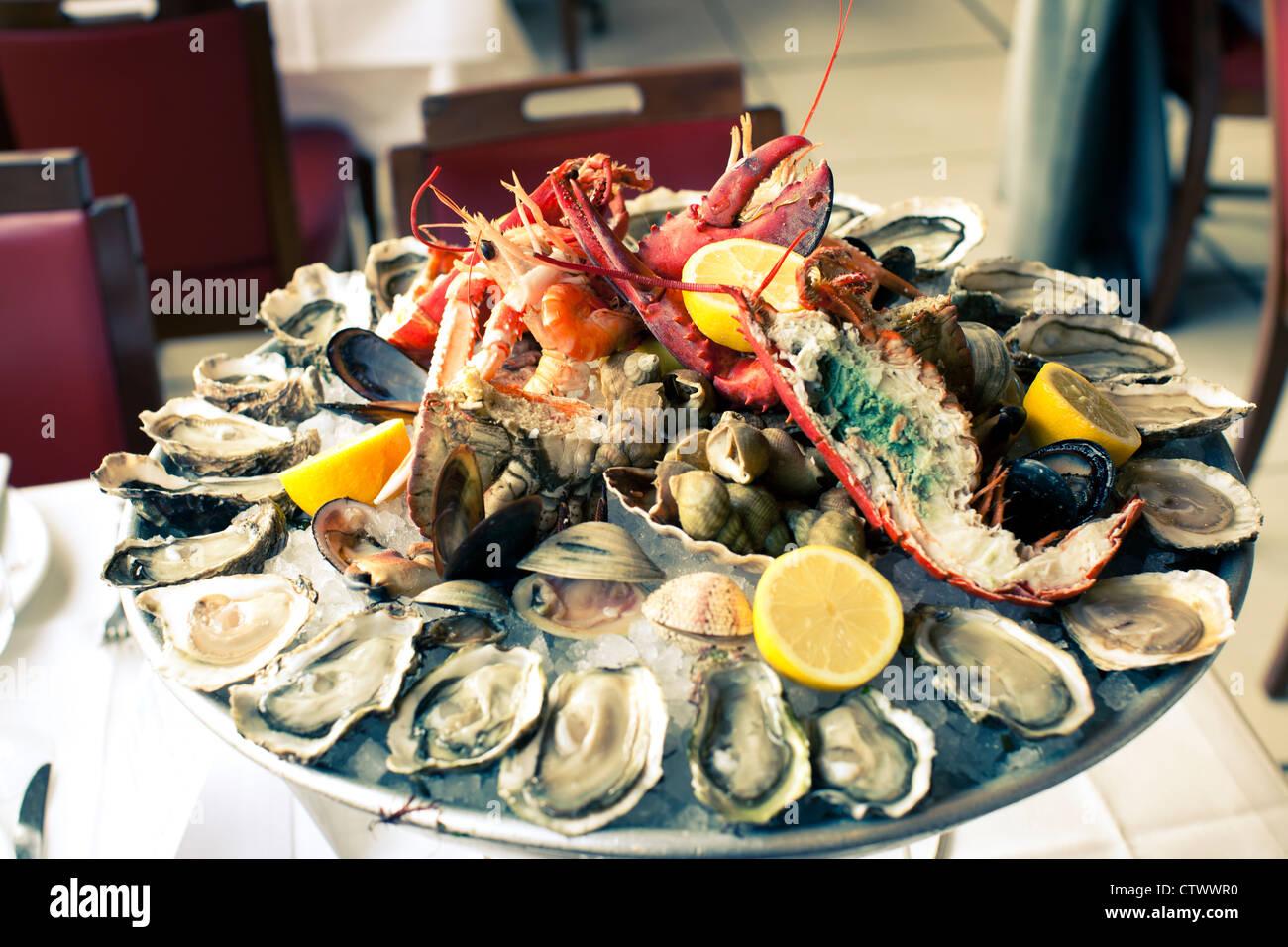 Wepler Seafood Restaurant Place De Clichy Paris France Stock