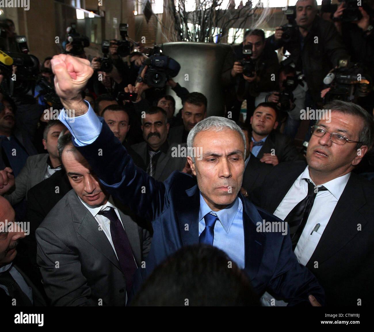 Mehmet Ali Ağca murderer of Abdi İpekçi released from prison in 2010 - Stock Image