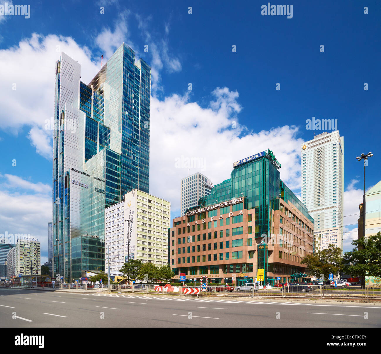 Modern center of Warsaw, Poland, Europe - Stock Image