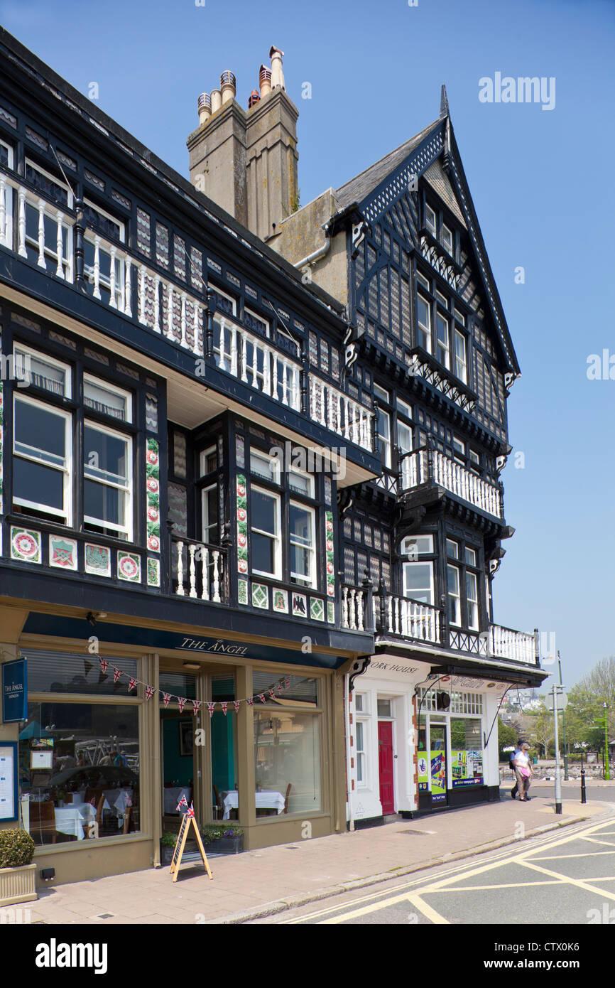 The Angel Hotel, Dartmouth, Devon - Stock Image