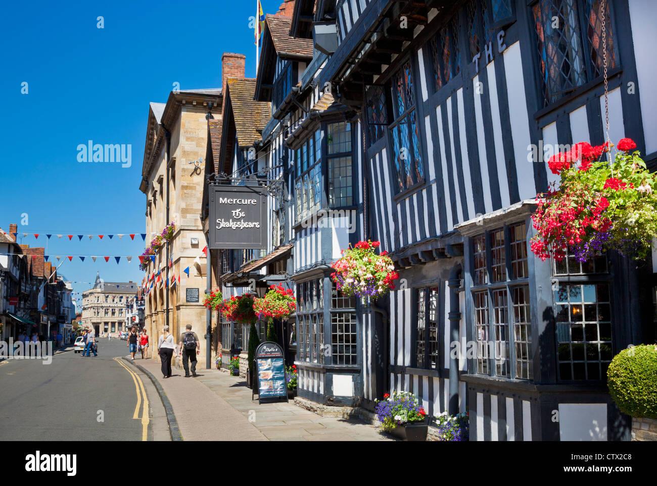 Mercure Shakespeare Hotel Chapel Street Stratford upon Avon Warwickshire England UK GB EU Europe - Stock Image
