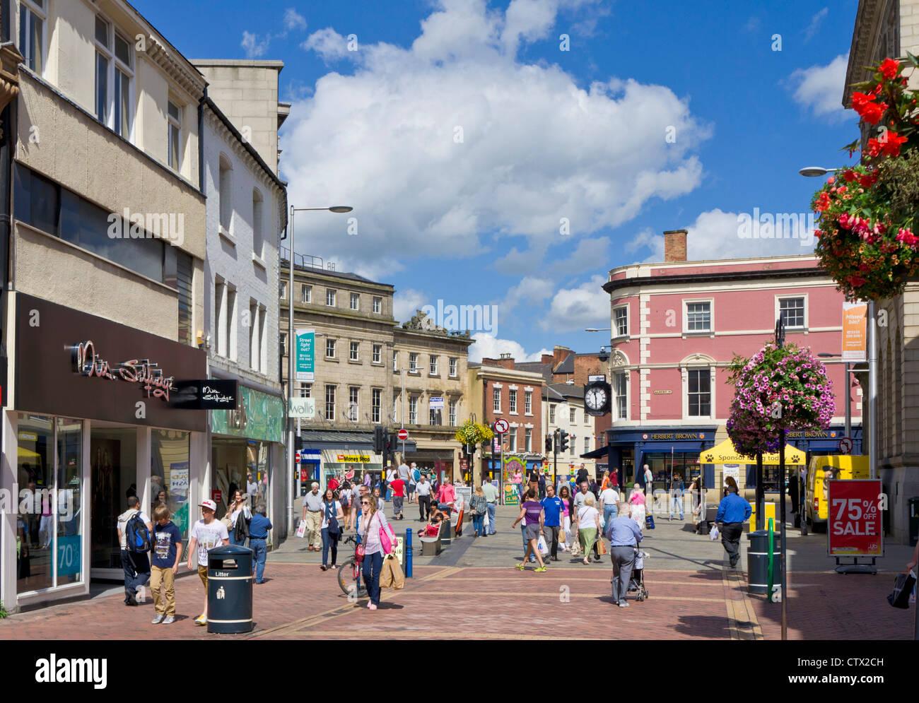 Corn Market, Derby City Centre, Derbyshire, England, UK, EU, Europe - Stock Image