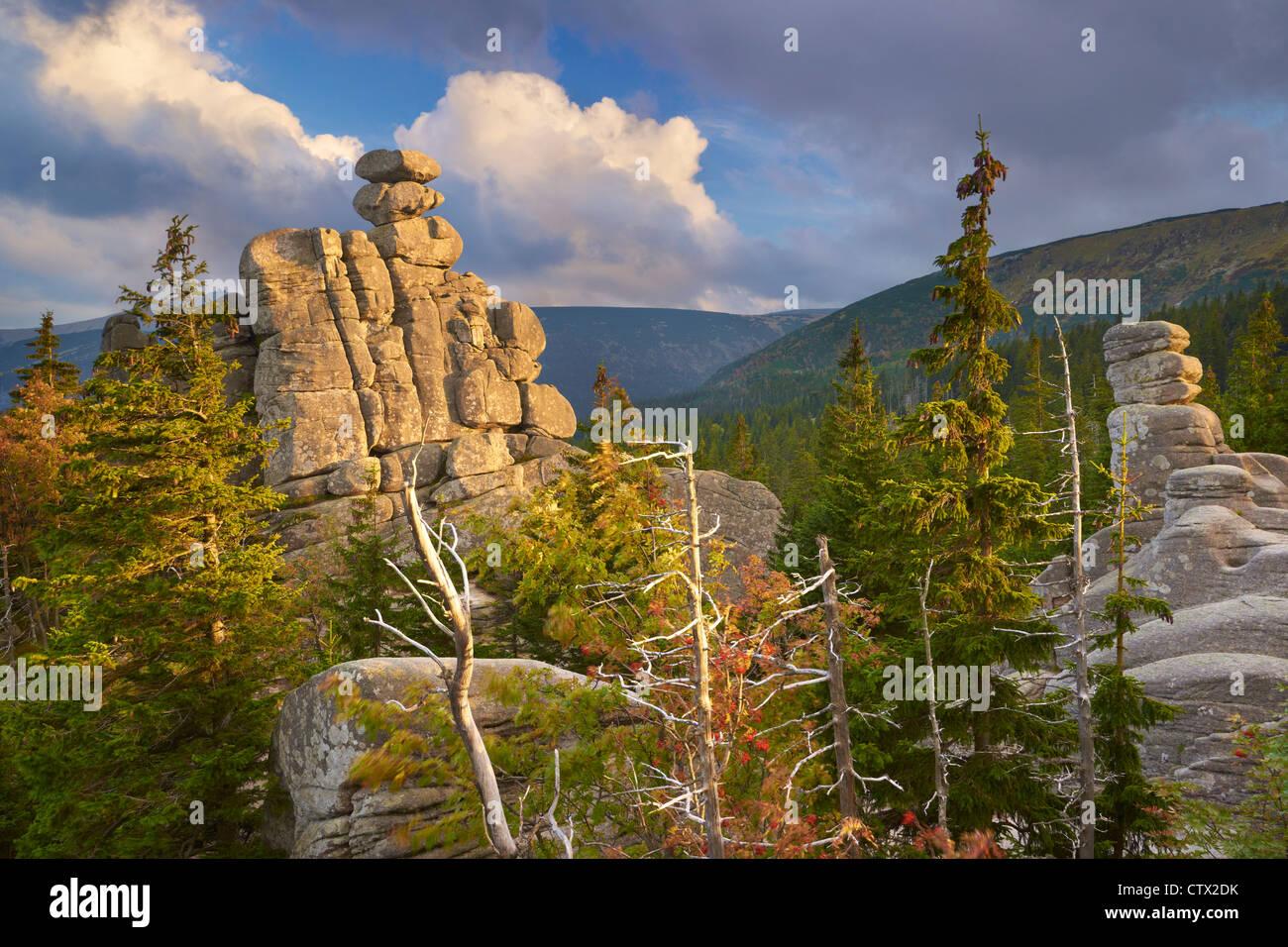 Karkonosze Mountains National Park, autumn landscape, Poland, Europe - Stock Image