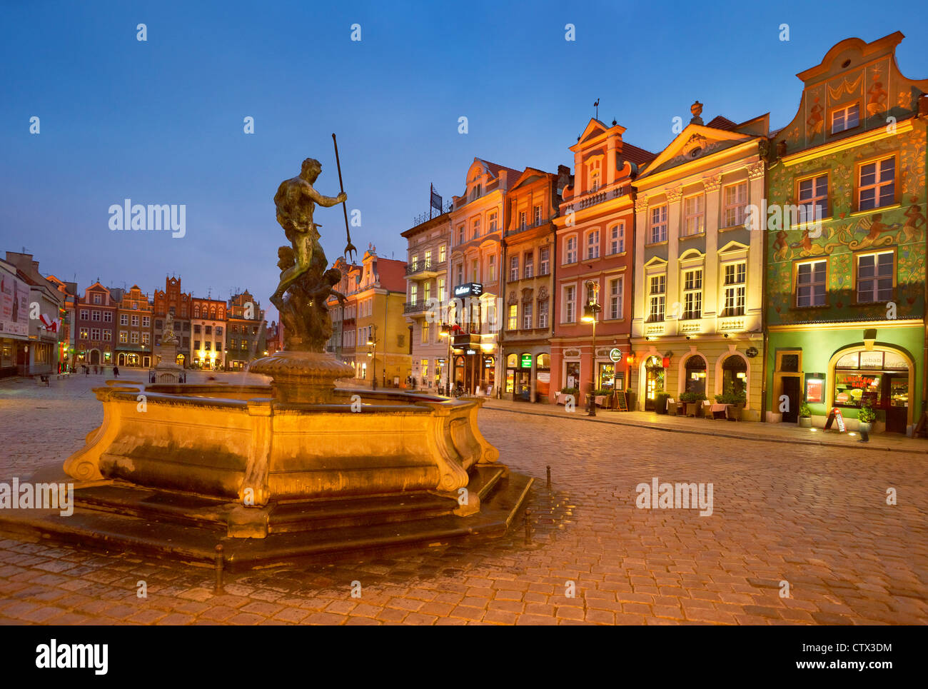 Poznan, The Old Market Square, Poland, Europe - Stock Image
