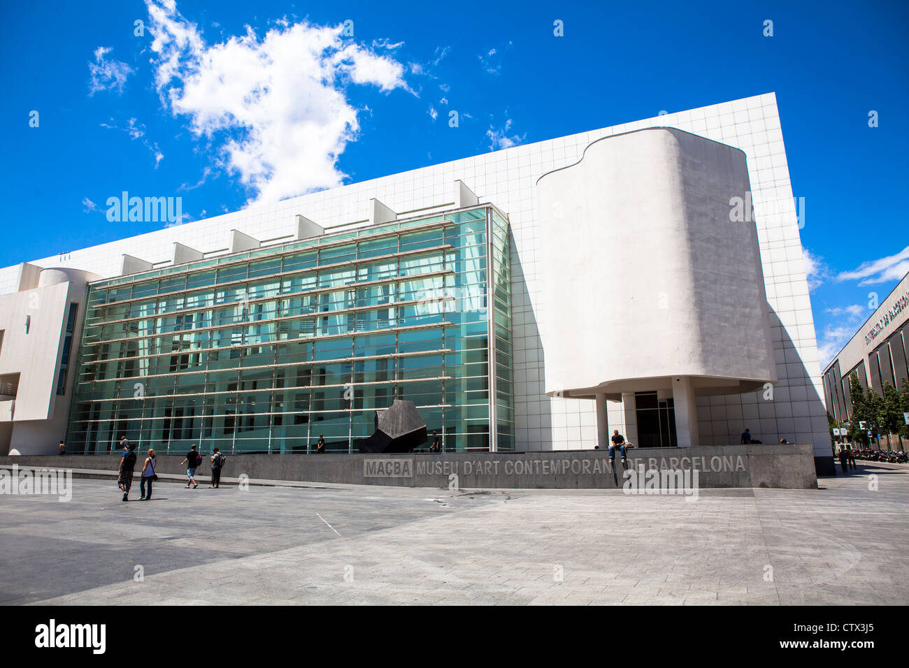 MACBA contemporary art Museum Barcelona Spain - Stock Image