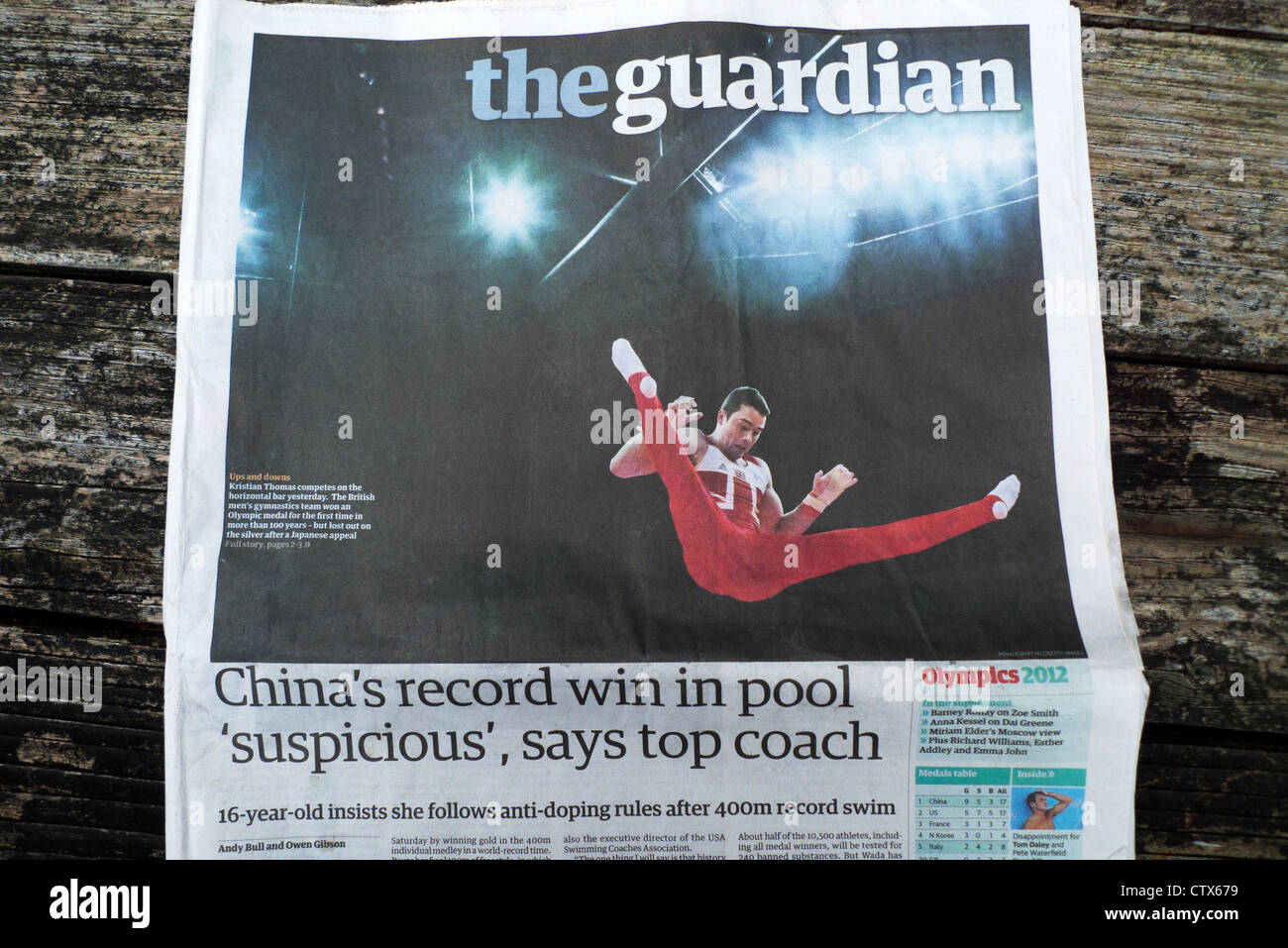 2012 London Olympics newspaper headline - Stock Image