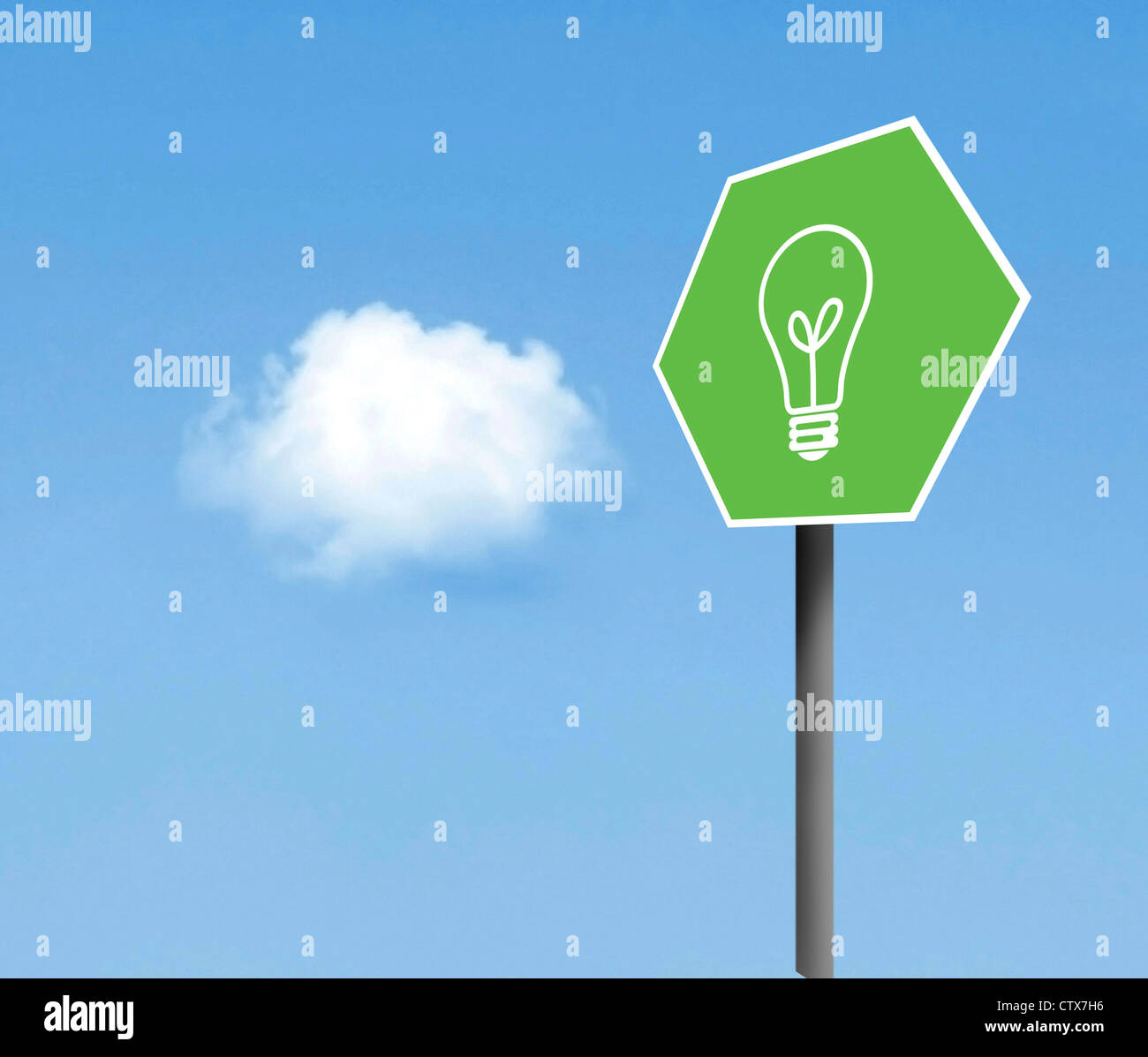 Green idea - Stock Image