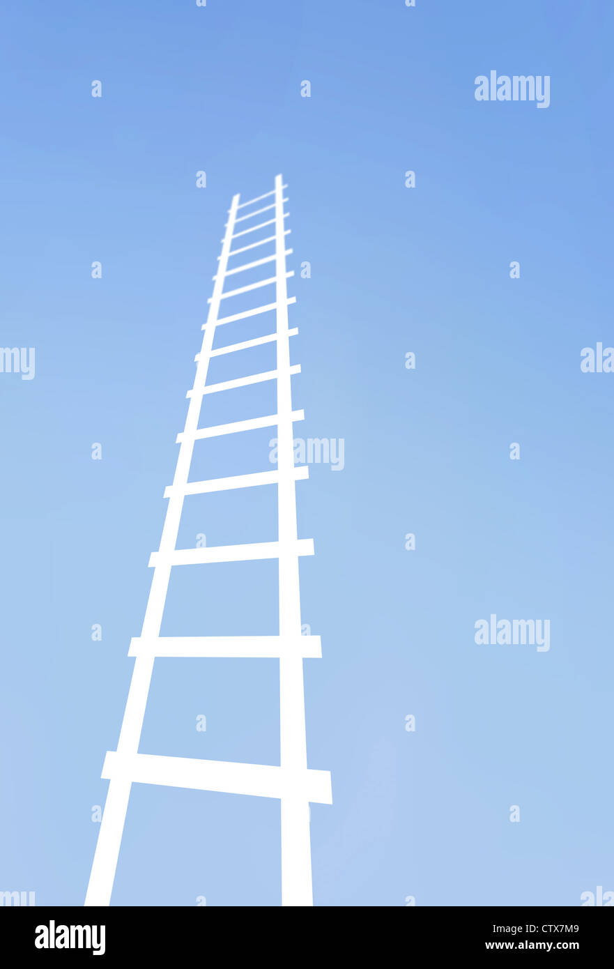 Moving up the ladder - Stock Image
