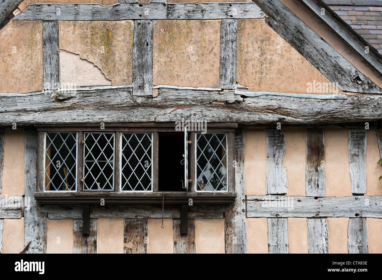 Window In An Old English Timber Framed Building Pembridge