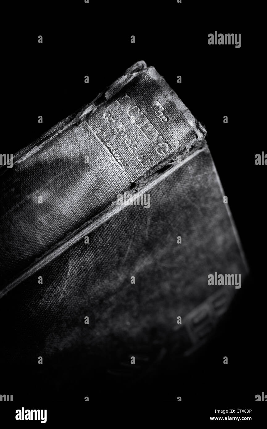 I Ching book. Chinese classic 'Book of Changes ' against a dark background - Stock Image