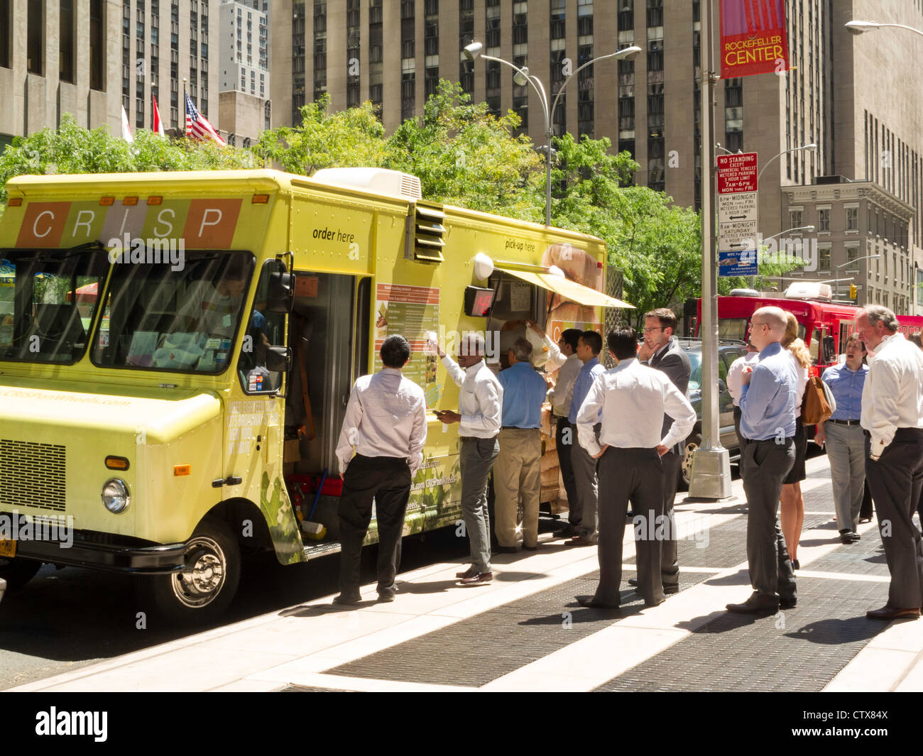 Gourmet Food Truck Nyc Stock Photo 49749642 Alamy