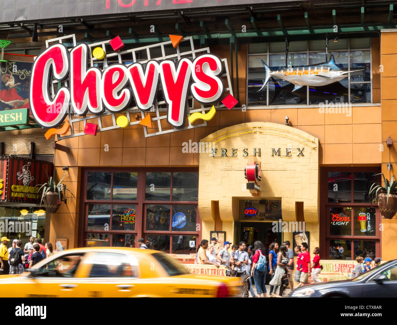 Chevys Fresh Mex is an American chain of Mexican-style casual dining restaurants located in the United States. The chain was founded in by Warren Simmons in Alameda, California. [6] The chain's headquarters are currently located in Cypress, California.