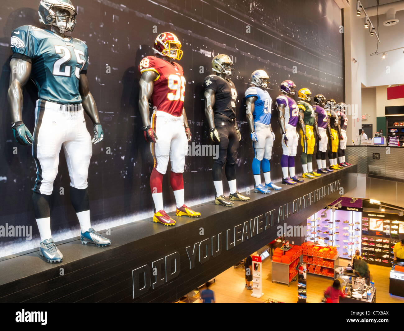 outlet store 7c380 4dc9a NFL Uniforms mannequins, Modell's Sporting Goods Store ...