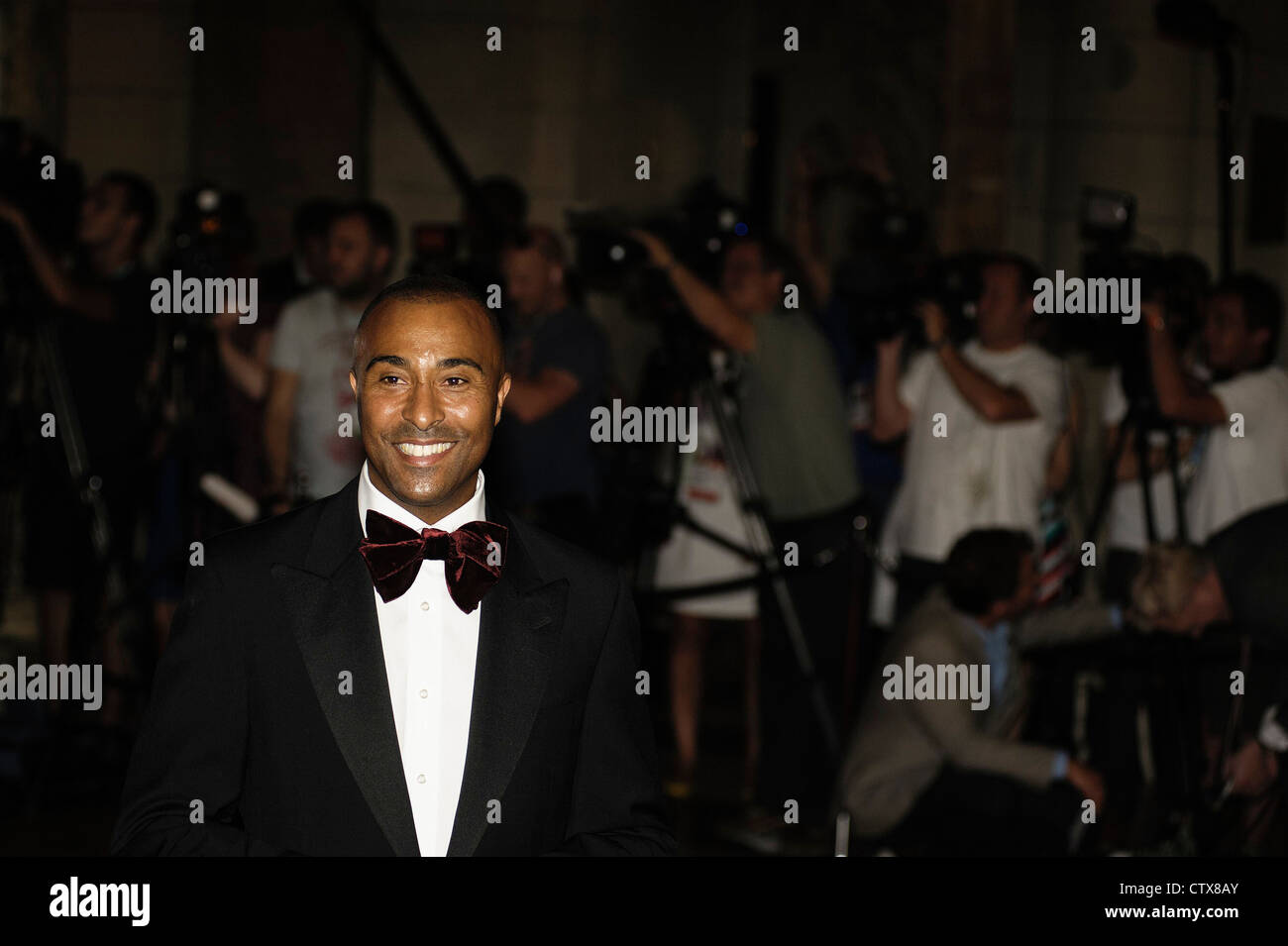 Colin Jackson CBE attends Sports for Peace Gala  on 25/07/2012 at Victoria & Albert Museum, LONDON. Picture - Stock Image