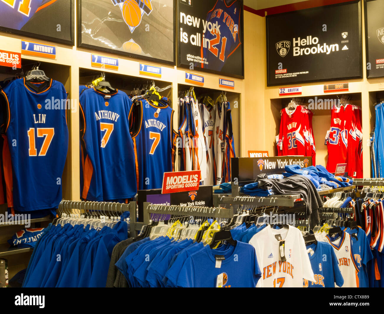 buy online 01786 1d240 NBA Jerseys, Modell's Sporting Goods Store Interior, NYC ...