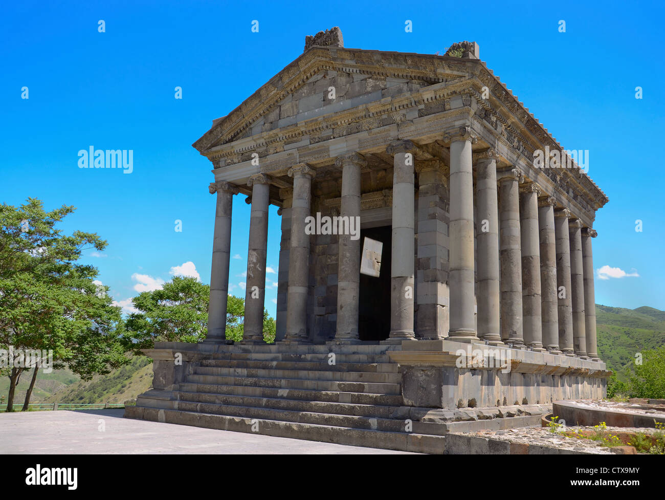 Ancient Garni temple complex. Armenia. - Stock Image