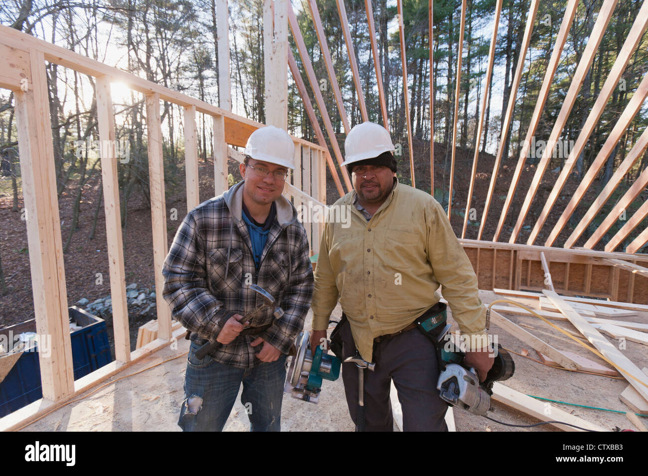 Two Men Power Tools Stock Photos & Two Men Power Tools Stock Images ...