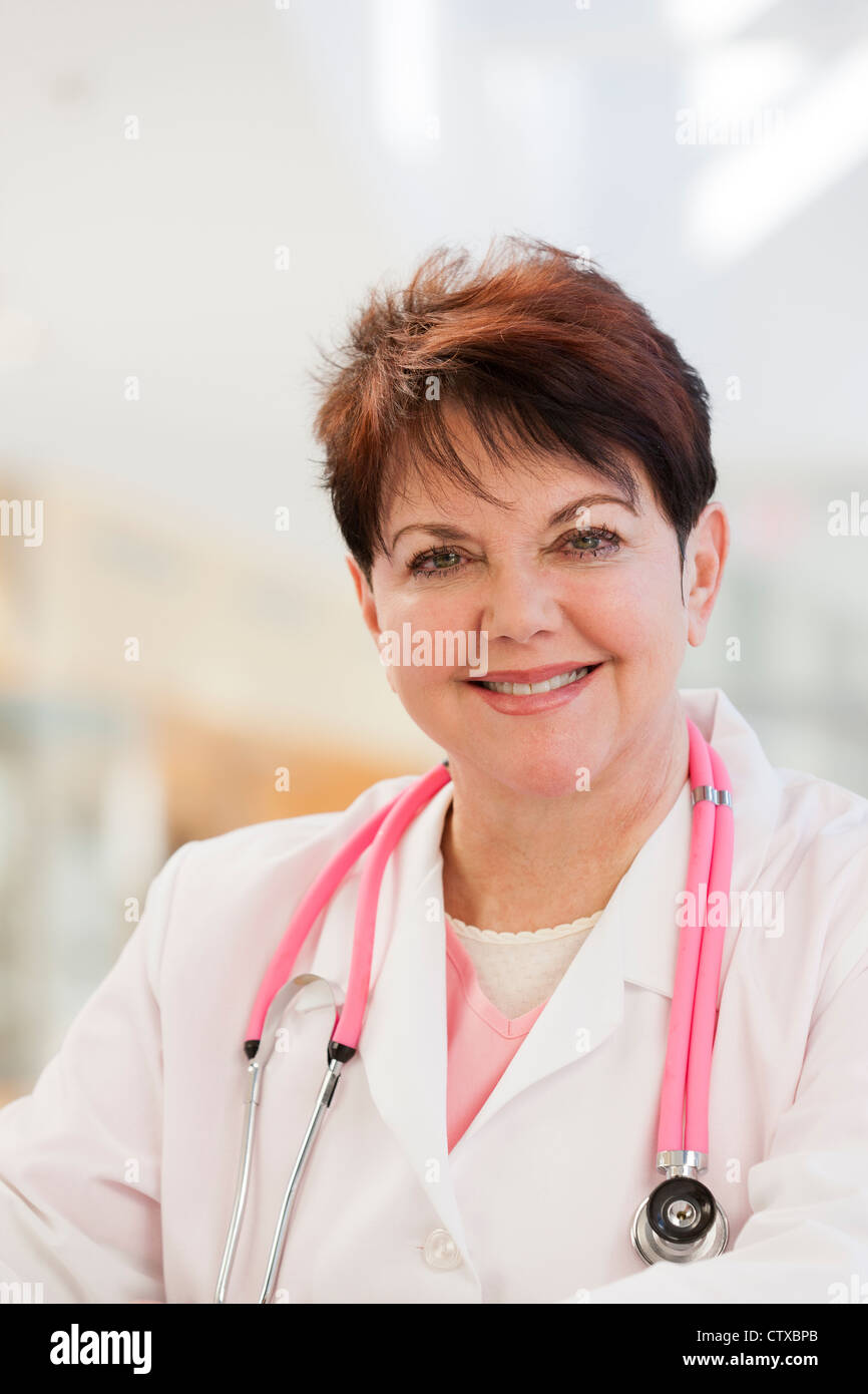Portrait of a nurse with a stethoscope - Stock Image
