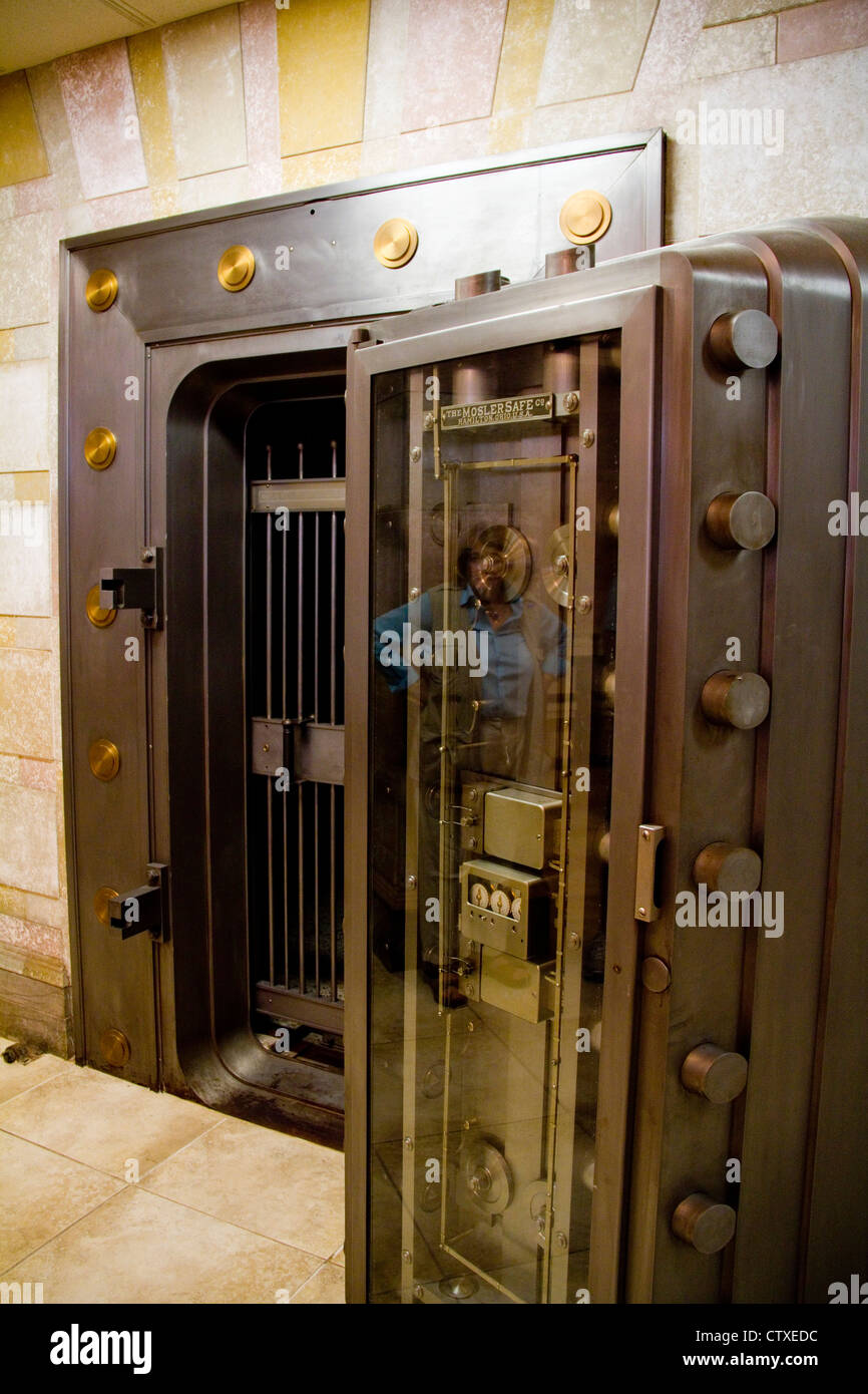 Vault, Calcasieu Marine National Bank, Lake Charles, LA, USA - Stock Image