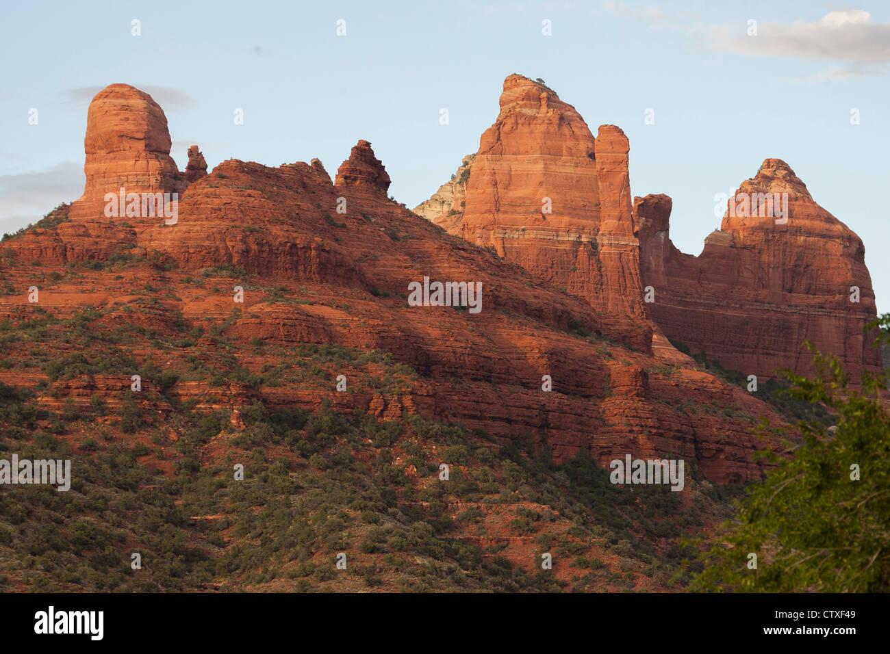 Hoodoos at Sedona,AZ - Stock Image