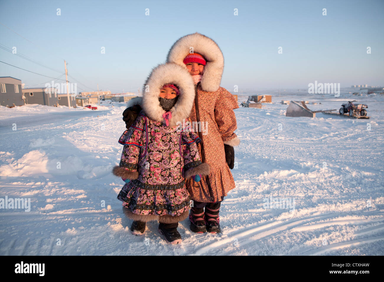 inuit girls at the northpole stock photo 49756865 alamy