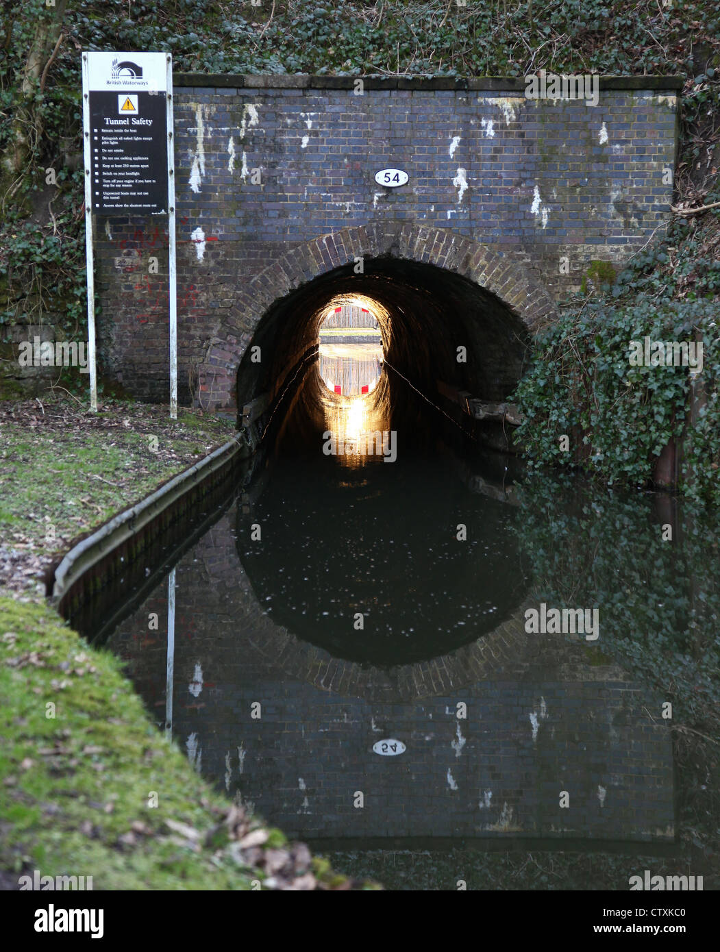 Froghall Tunnel on the Caldon canal Churnet Valley near Froghall Staffordshire - Stock Image