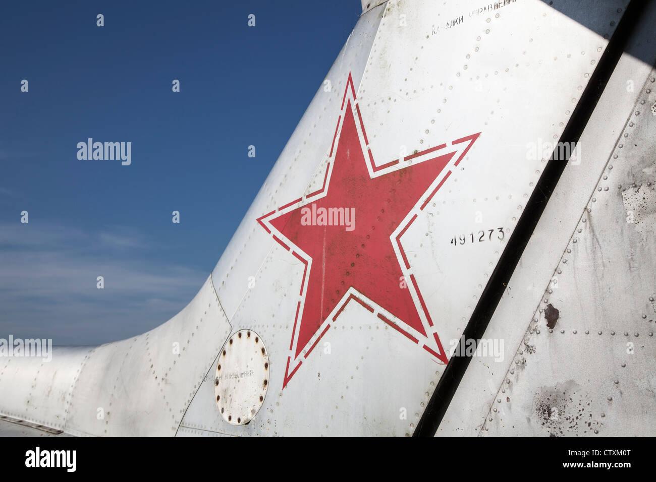 Insignia on a Latvian-registered Aero L-29 Delfin at Breighton - Stock Image