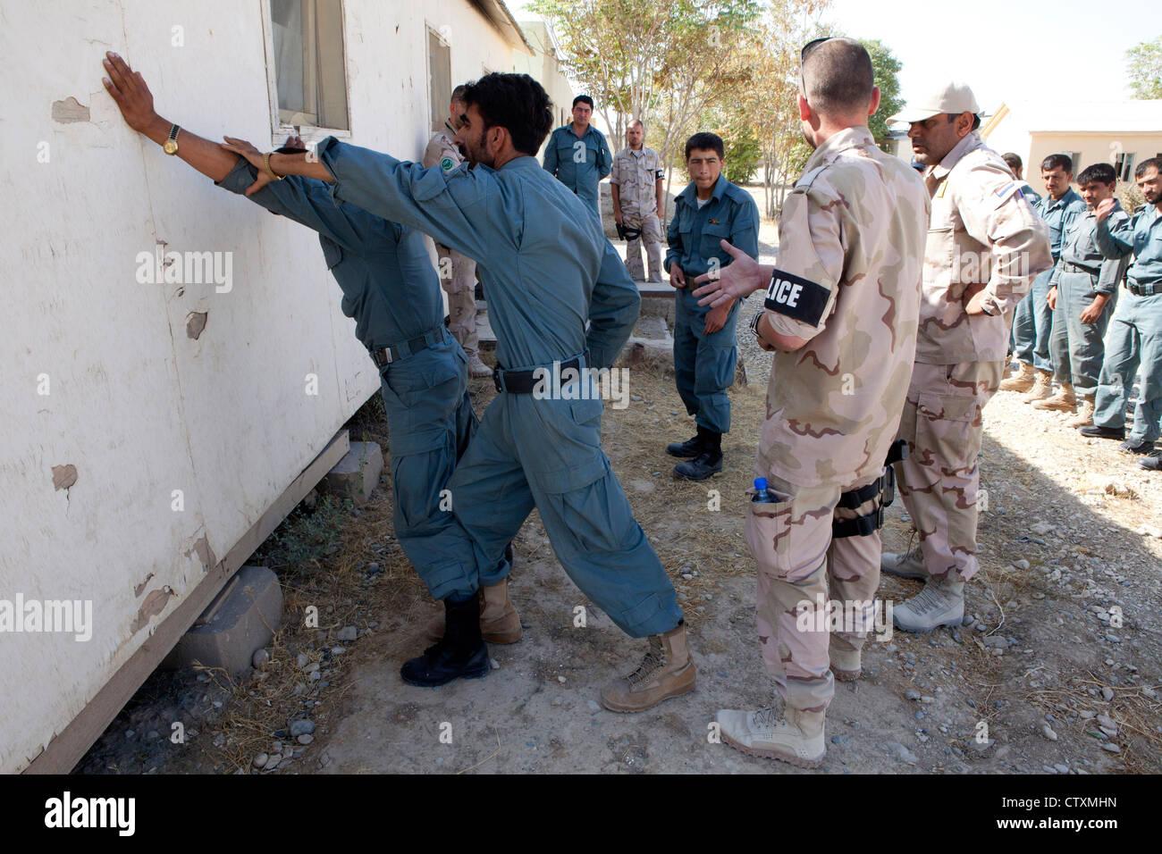 Police training centre in Kunduz, Afghanisan. - Stock Image