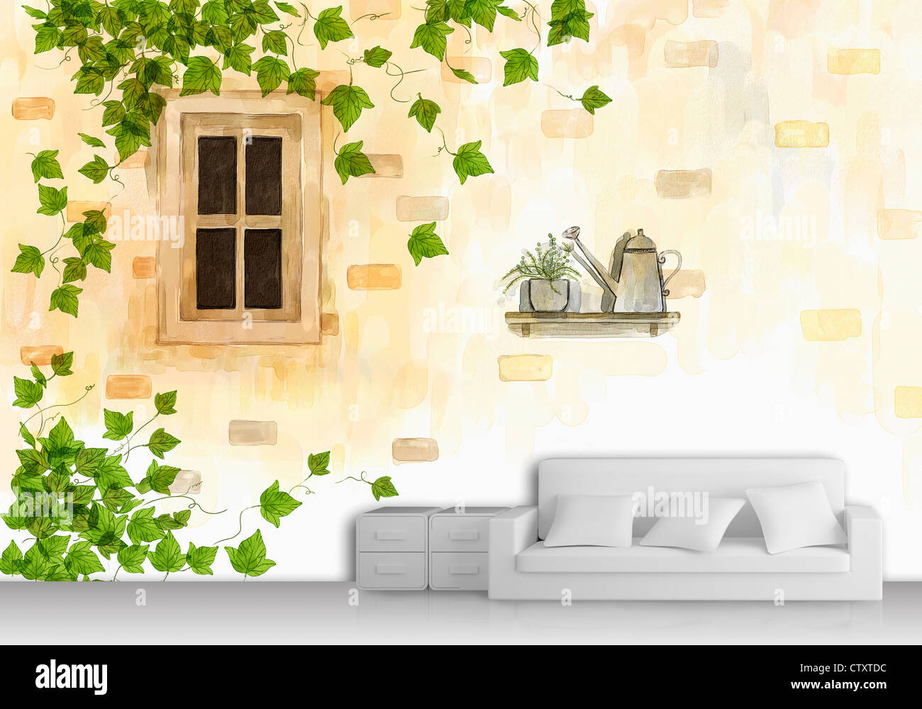 Watering Living Wall Stock Photos & Watering Living Wall Stock ...