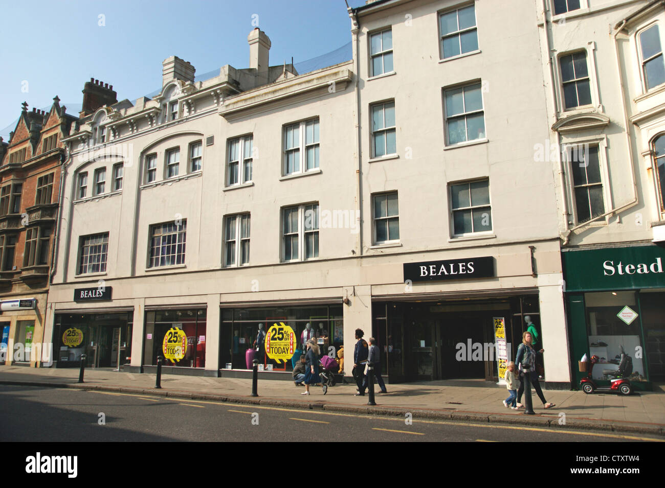 Beales department retailer store with a sale on Worthing West Sussex UK now closing down - Stock Image
