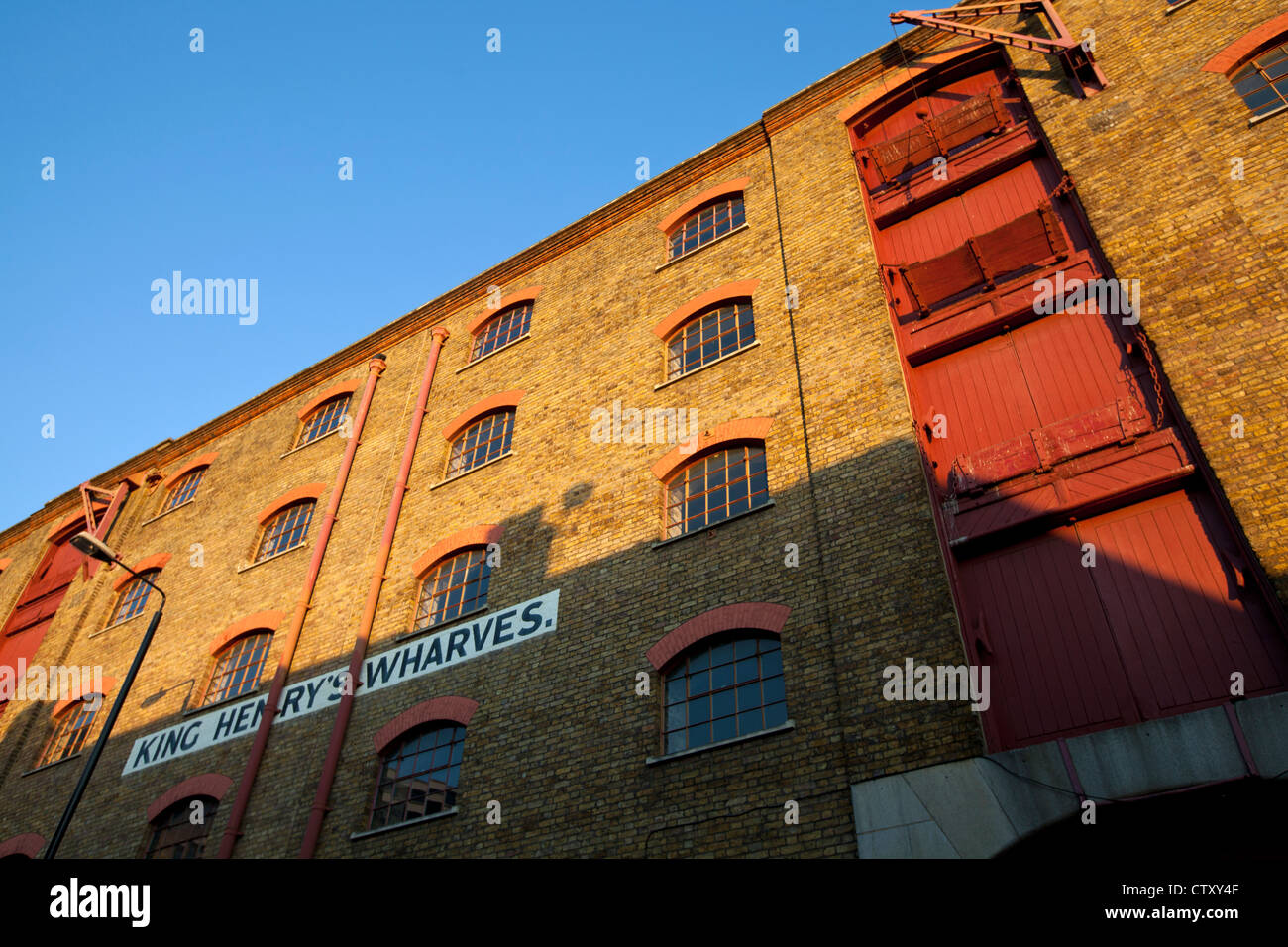 King Henry's Wharves, Wapping High Street, Wapping, London, England, UK - Stock Image