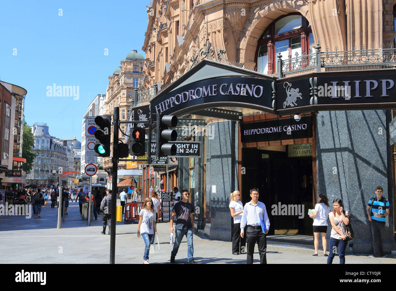 The Hippodrome Casino, near Leicester Square, in London's West End, UK - Stock Image