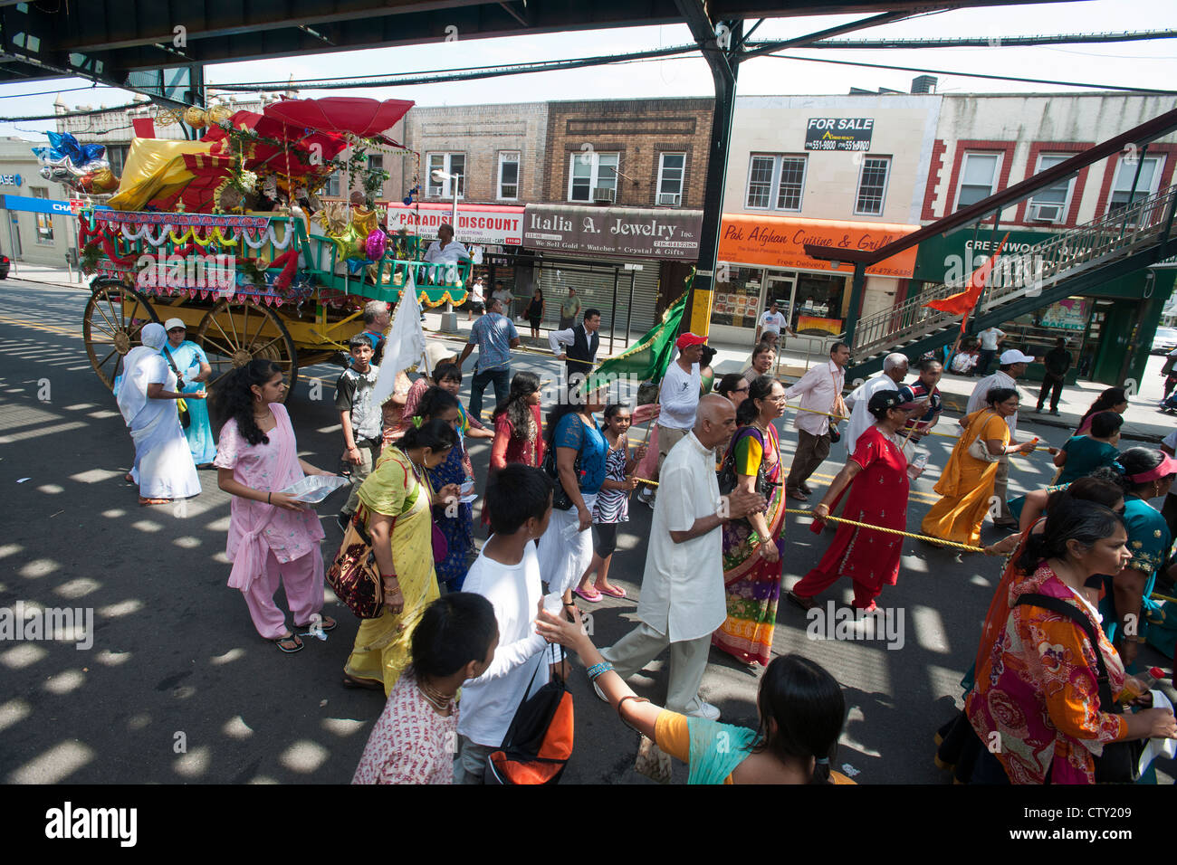 Hare Krishna Devotees Ratha Yatra Stock Photos & Hare