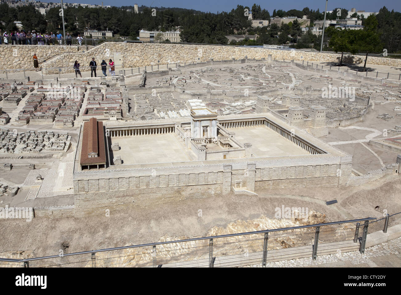 50:1 scale Second Temple Model at the Israel Museum in Jerusalem, Israel - Stock Image