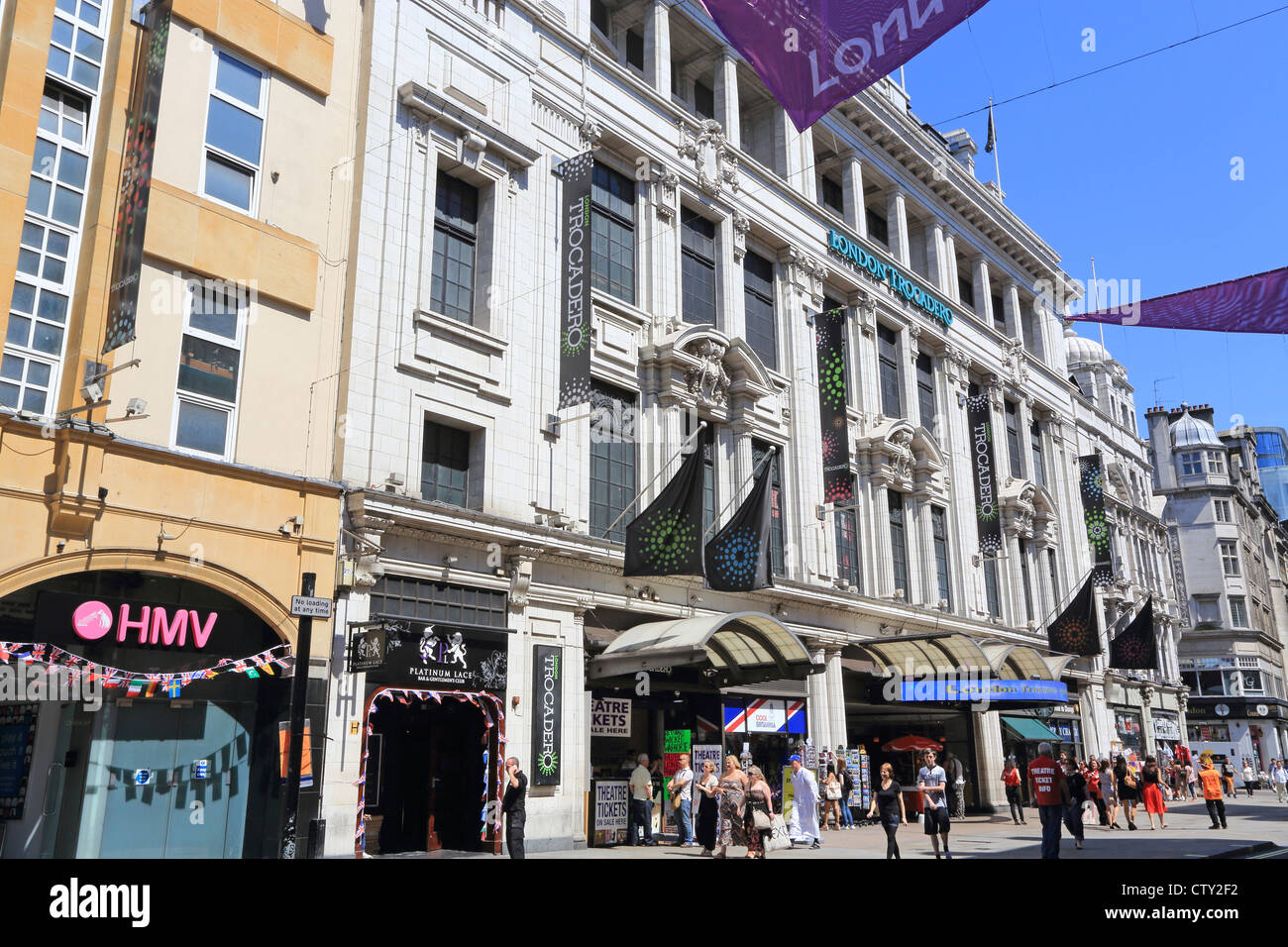 The Trocadero shopping and entertainment centre, on Shaftesbury Avenue, in the West End of London, England, UK - Stock Image