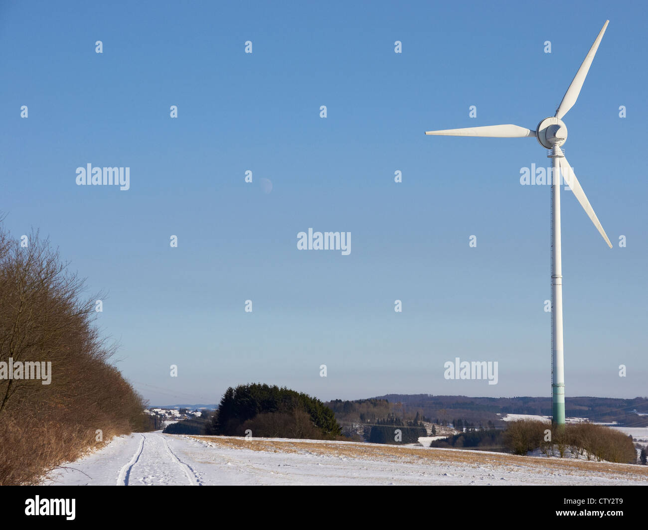 Windmill for energy production in the West Forest - Stock Image
