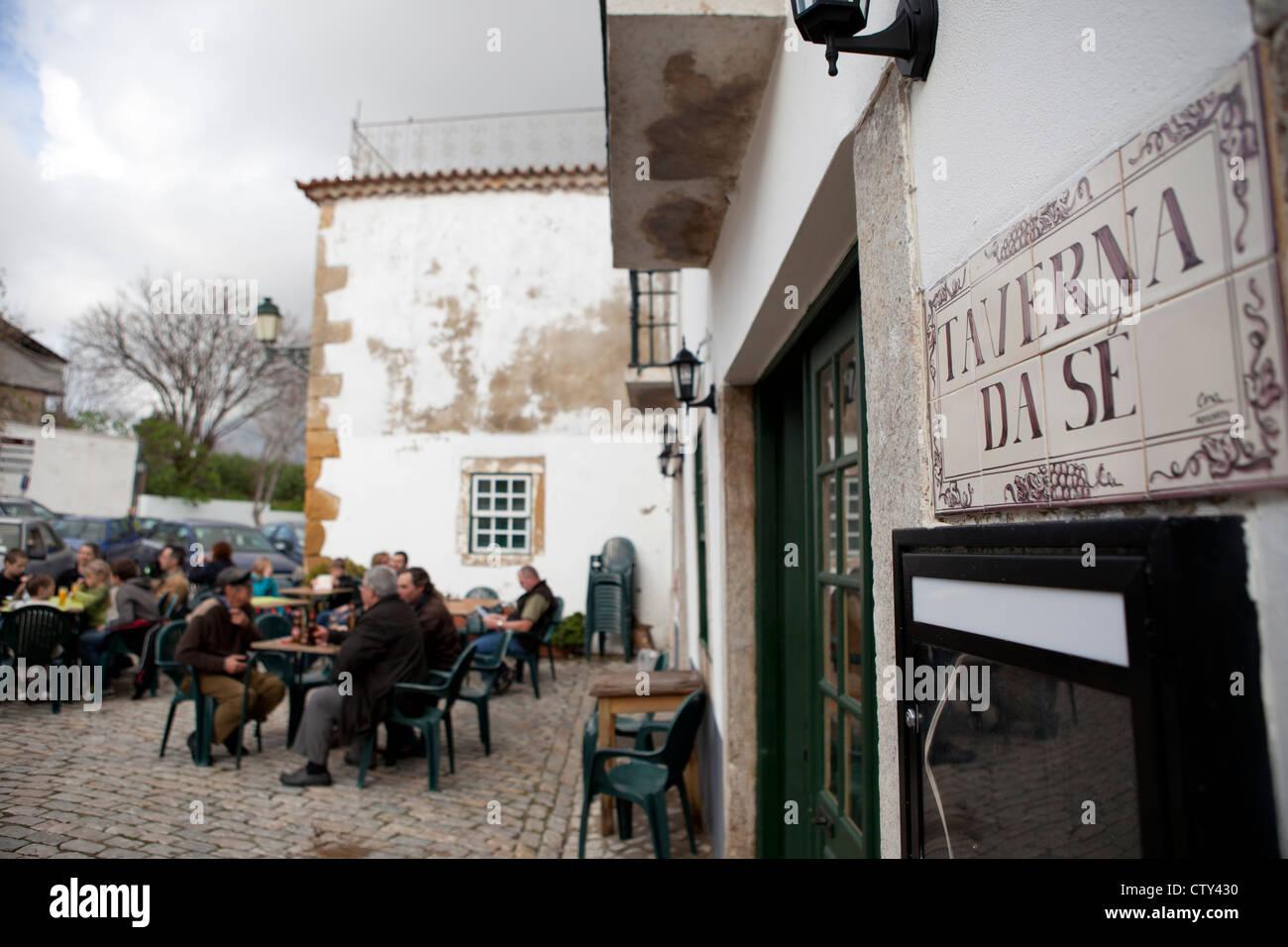 Taverna Da Se pub bar Faro Algarve Portugal Stock Photo