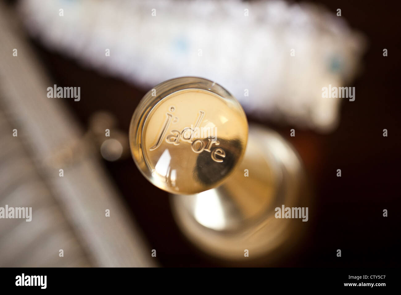 J'adore perfume bottle - Stock Image
