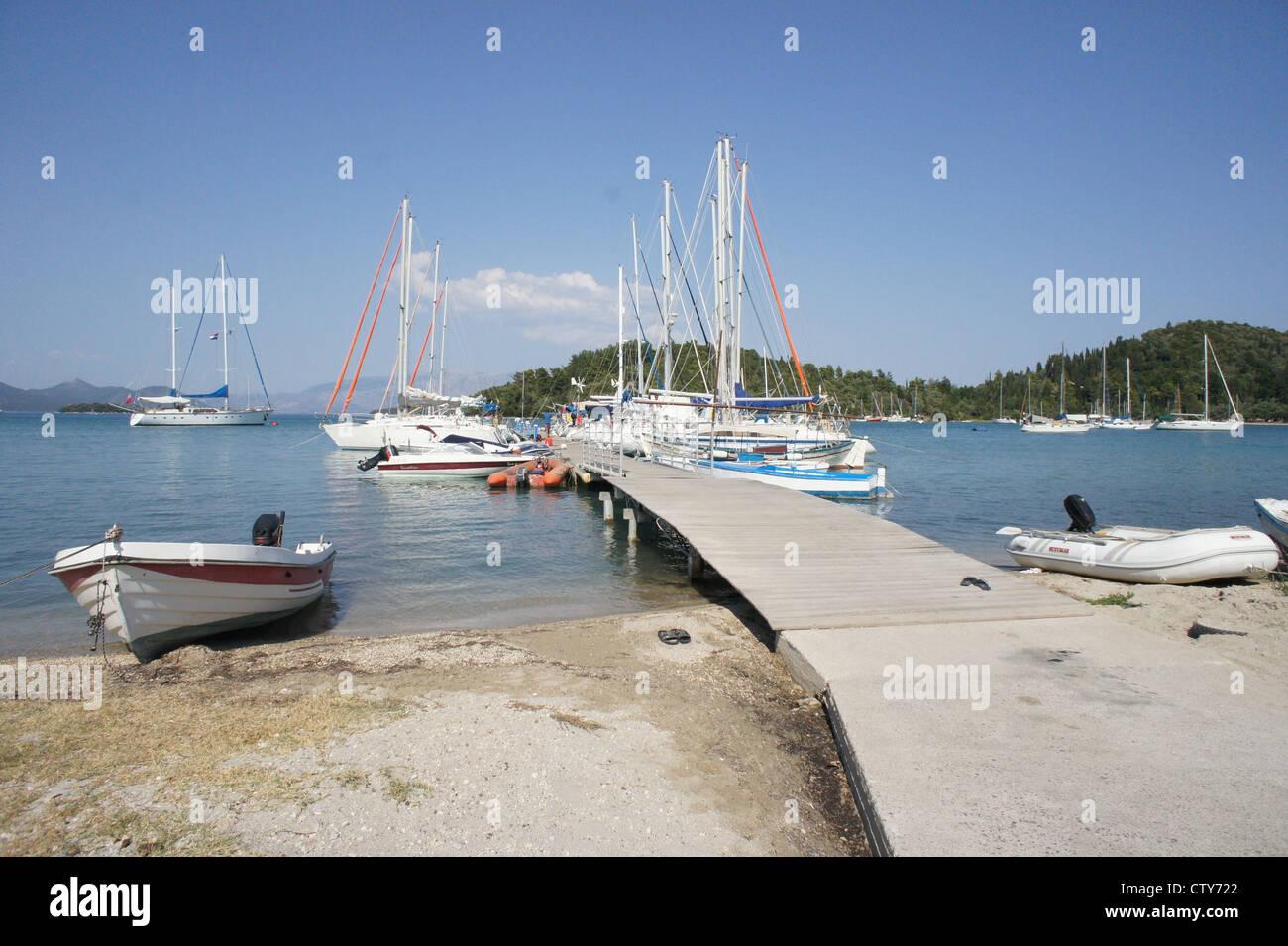 Nidri Harbour, Ionian Islands, Greece - Stock Image