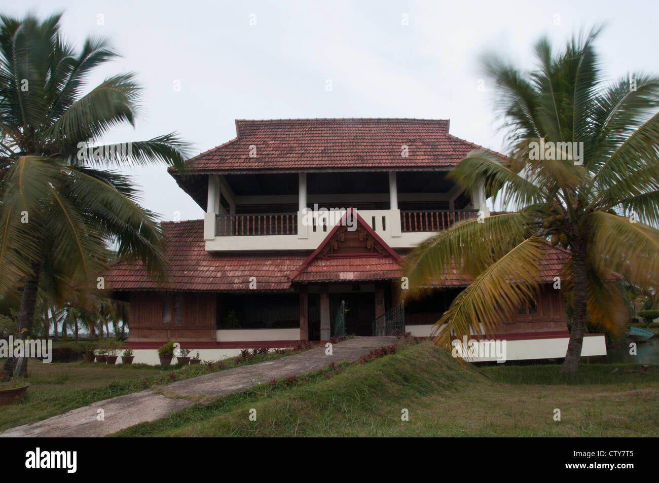 Tharavadu the traditional wooden cottages of kerala for South indian home images